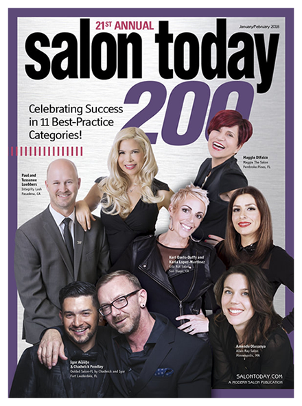 Best Hair Salon Pembroke Pines, Salon Today 200 January 2018 Magazine Cover