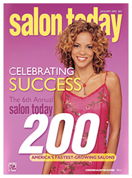 Best Hair Salon Pembroke Pines, Salon Today 200 January 2003 Magazine Cover