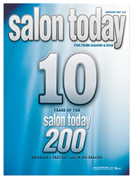 Best Hair Salon Pembroke Pines, Salon Today 200 January 2007 Magazine Cover