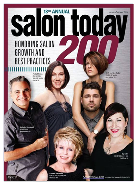 Best Hair Salon Pembroke Pines, Salon Today 200 January/February 2015 Magazine Cover
