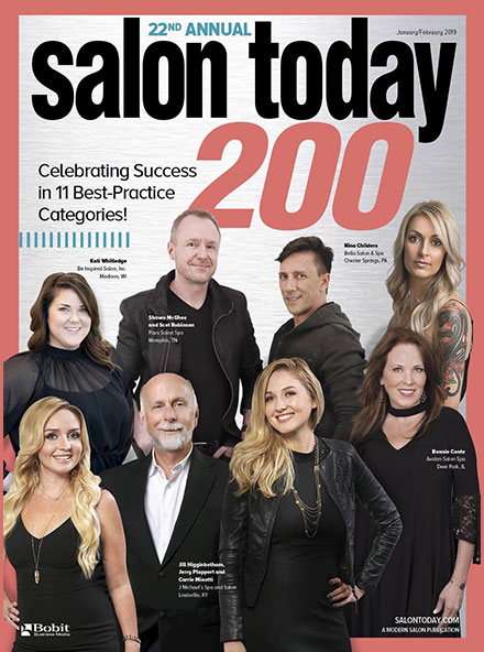 Best Hair Salon Pembroke Pines, Salon Today 200 January/February 2019 Magazine Cover